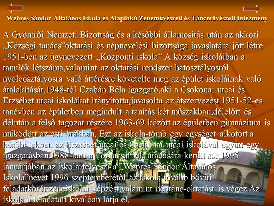 Weöres Sándor Általános Iskola és Alapfokú Zeneművészeti és Táncművészeti Intézmény