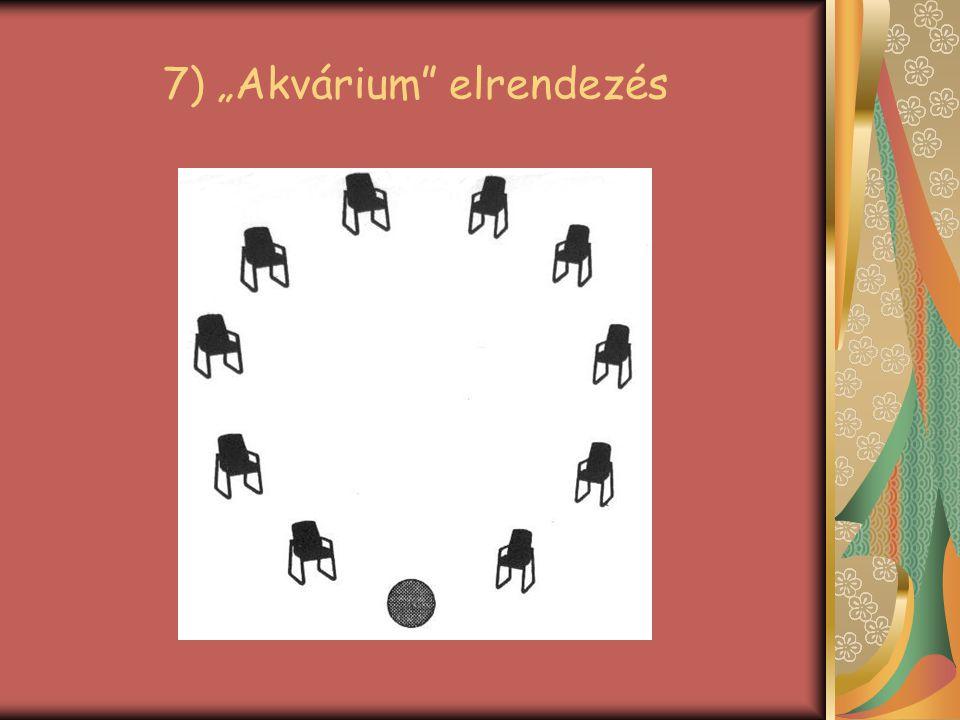 """7) """"Akvárium elrendezés"""