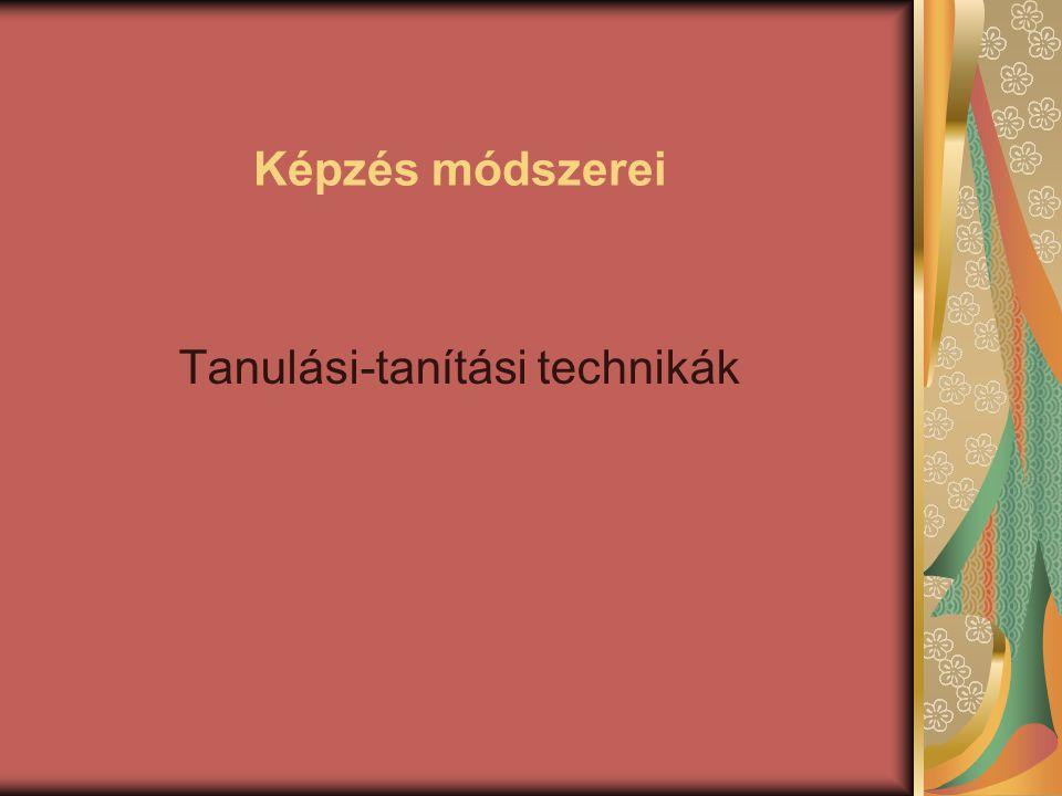 Tanulási-tanítási technikák