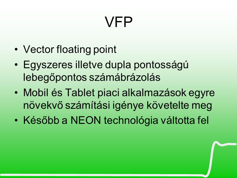 VFP Vector floating point