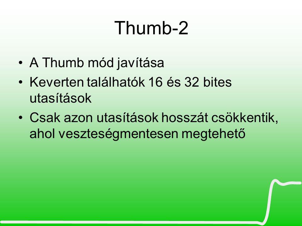 Thumb-2 A Thumb mód javítása
