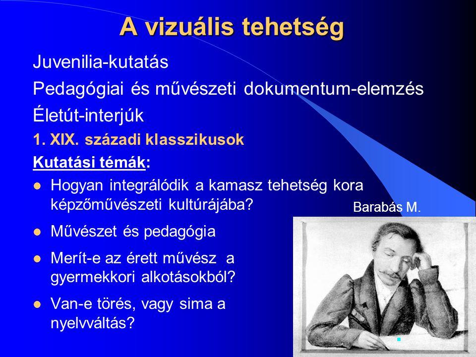 A vizuális tehetség Juvenilia-kutatás
