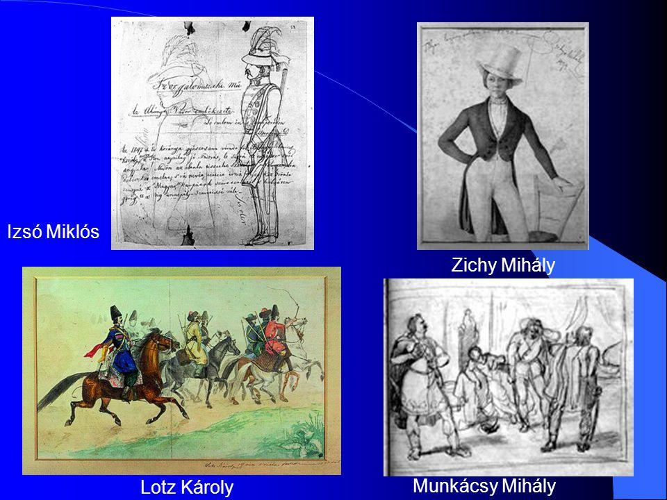 Izsó Miklós Zichy Mihály Lotz Károly Munkácsy Mihály