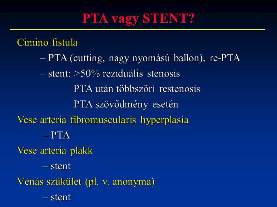 PTA vagy STENT Cimino fistula