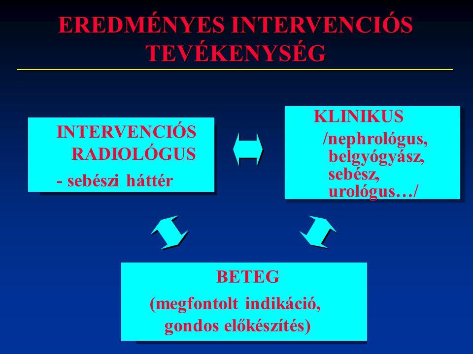 EREDMÉNYES INTERVENCIÓS TEVÉKENYSÉG