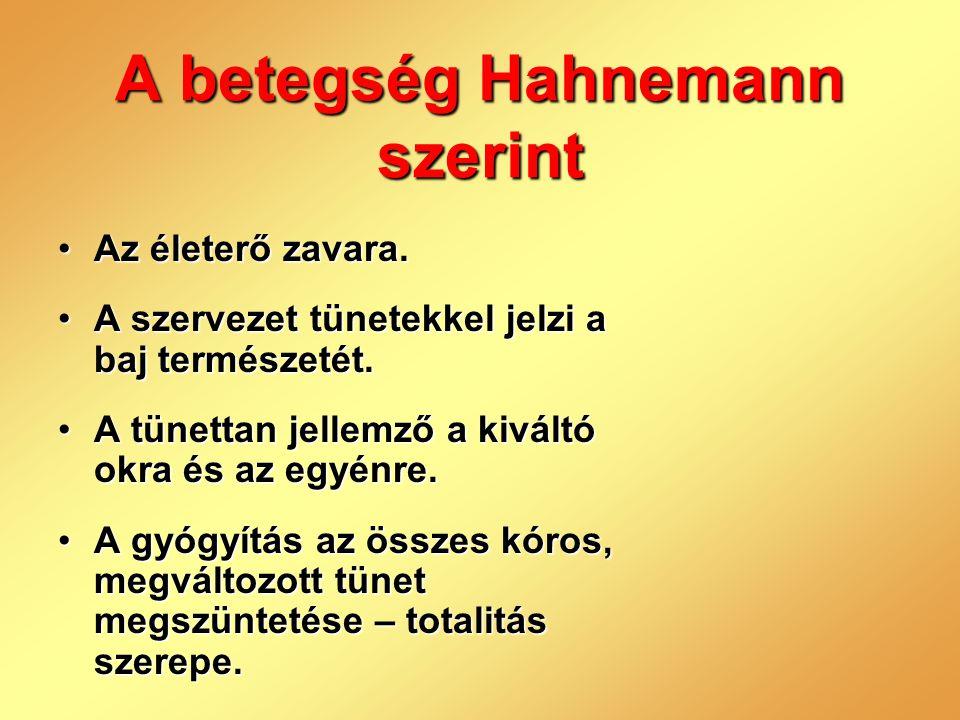 A betegség Hahnemann szerint
