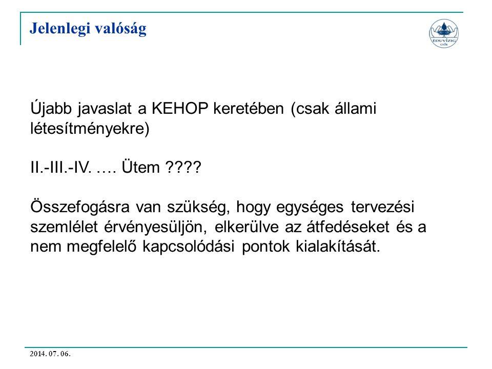 Újabb javaslat a KEHOP keretében (csak állami létesítményekre)