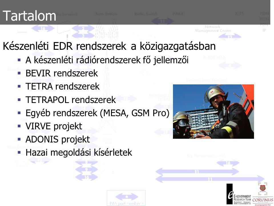 Tartalom Készenléti EDR rendszerek a közigazgatásban