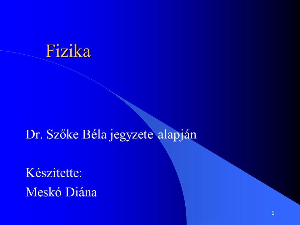 Dr. Szőke Béla jegyzete alapján Készítette: Meskó Diána