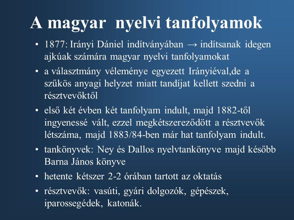 A magyar nyelvi tanfolyamok