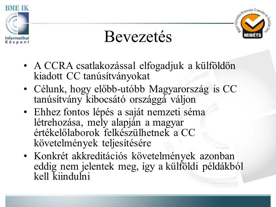 Bevezetés A CCRA csatlakozással elfogadjuk a külföldön kiadott CC tanúsítványokat.