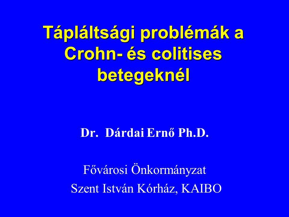 Tápláltsági problémák a Crohn- és colitises betegeknél