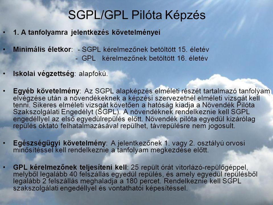 SGPL/GPL Pilóta Képzés
