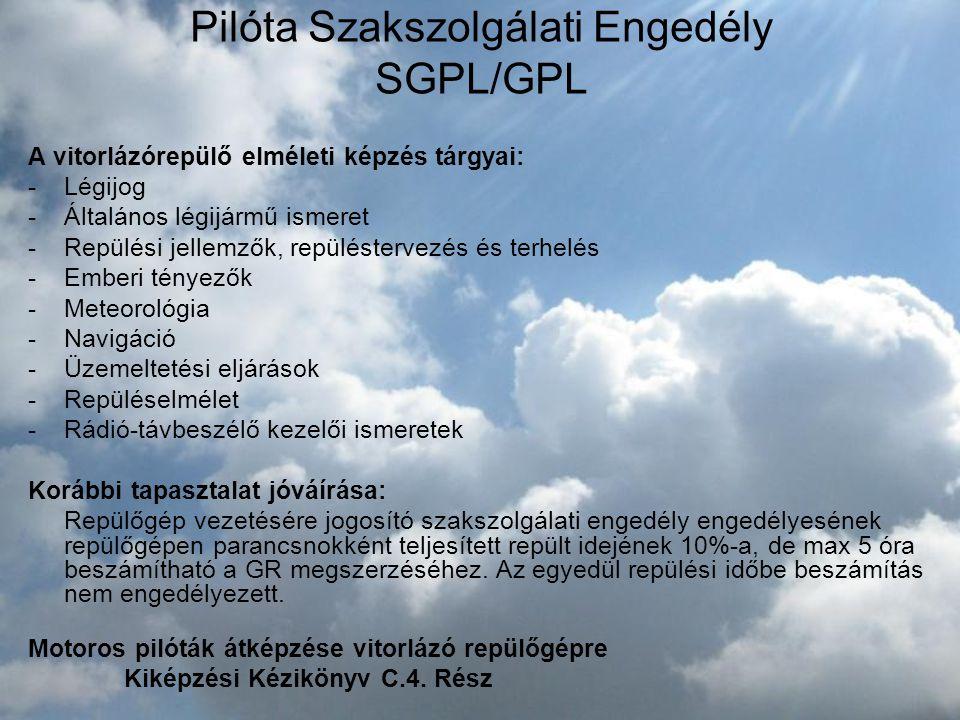 Pilóta Szakszolgálati Engedély SGPL/GPL