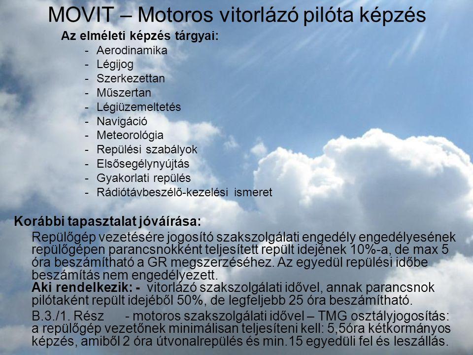 MOVIT – Motoros vitorlázó pilóta képzés