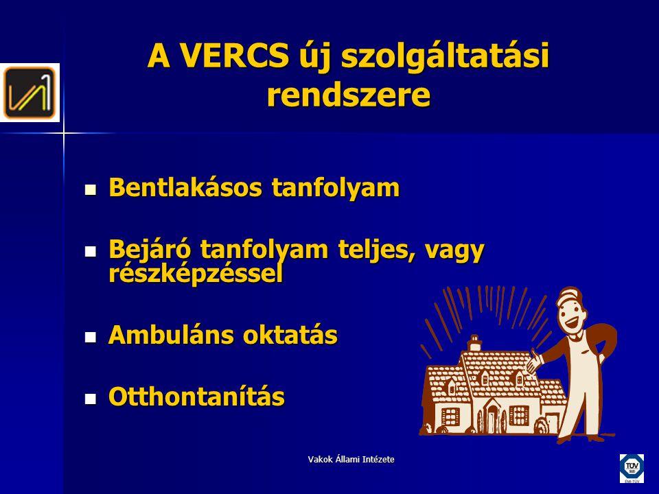 A VERCS új szolgáltatási rendszere