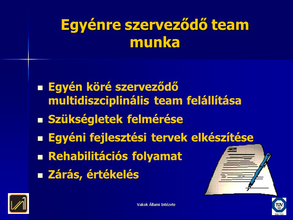Egyénre szerveződő team munka