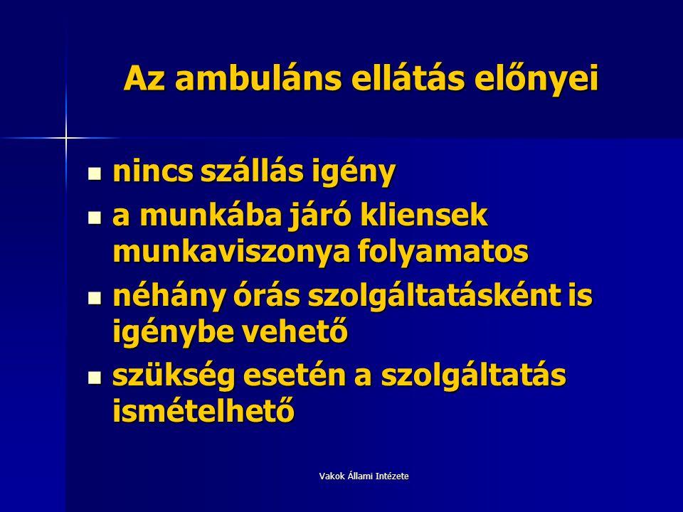 Az ambuláns ellátás előnyei