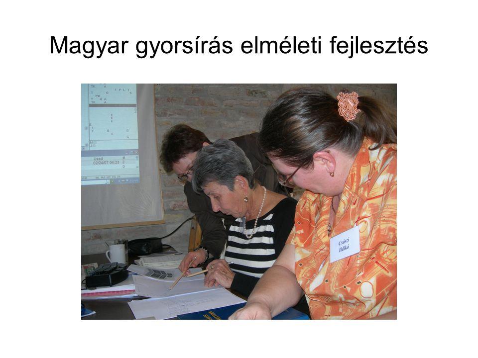 Magyar gyorsírás elméleti fejlesztés