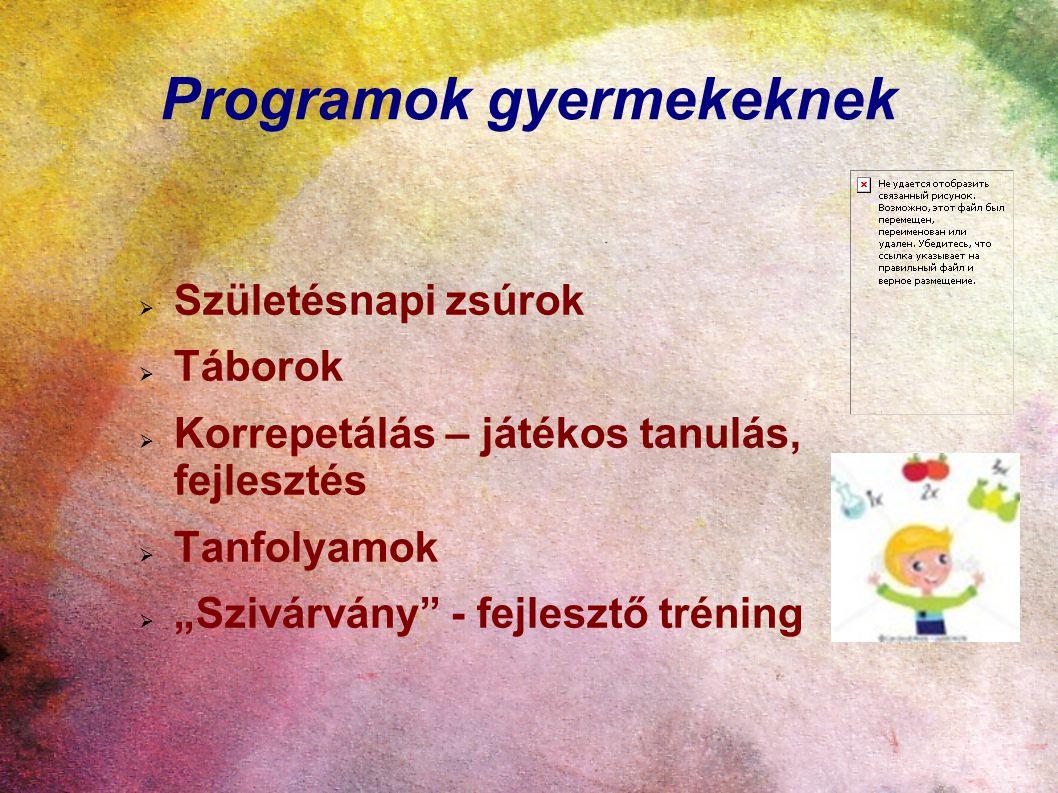 Programok gyermekeknek