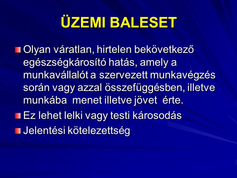 ÜZEMI BALESET