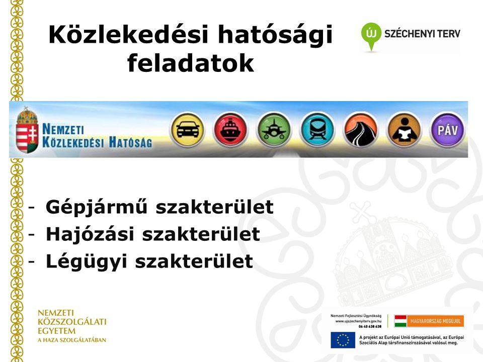 Közlekedési hatósági feladatok