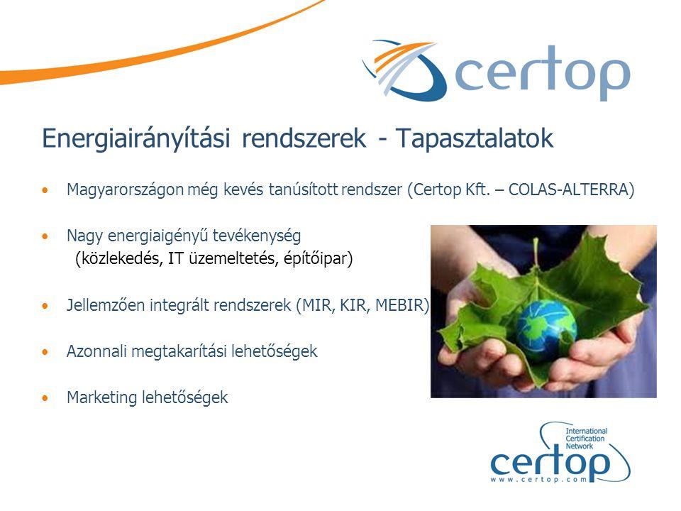 Energiairányítási rendszerek - Tapasztalatok