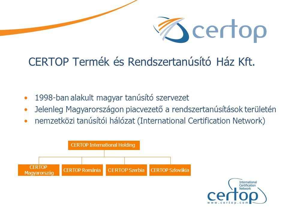 CERTOP Termék és Rendszertanúsító Ház Kft.