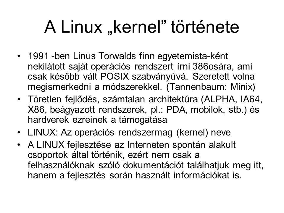 """A Linux """"kernel története"""
