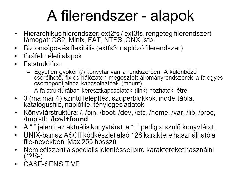A filerendszer - alapok