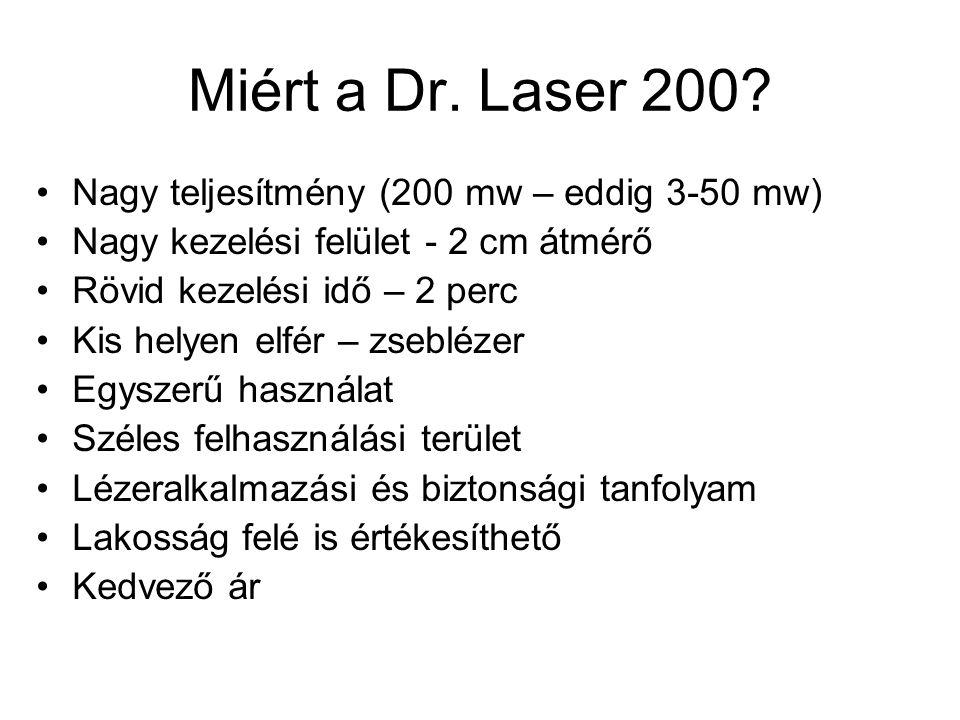 Miért a Dr. Laser 200 Nagy teljesítmény (200 mw – eddig 3-50 mw)