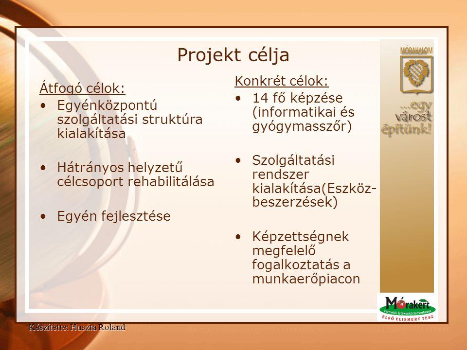 Projekt célja Konkrét célok: Átfogó célok: