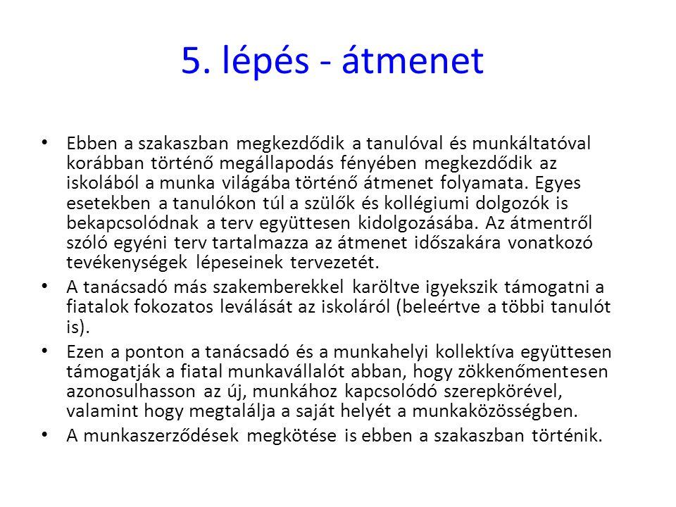 5. lépés - átmenet