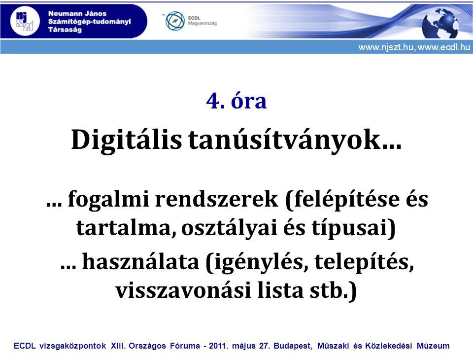 Digitális tanúsítványok…