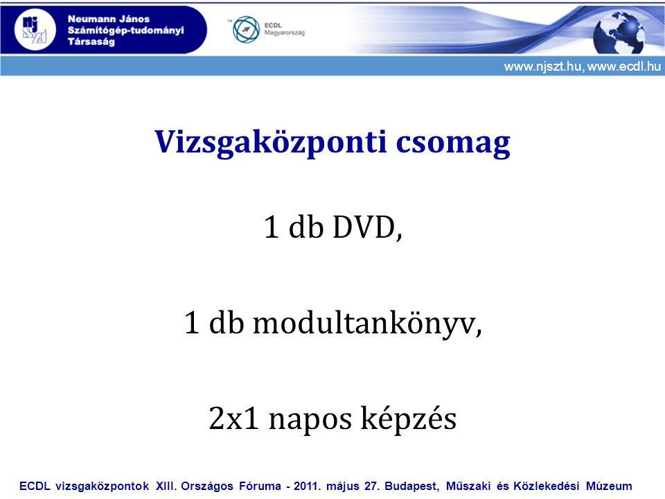 Vizsgaközponti csomag