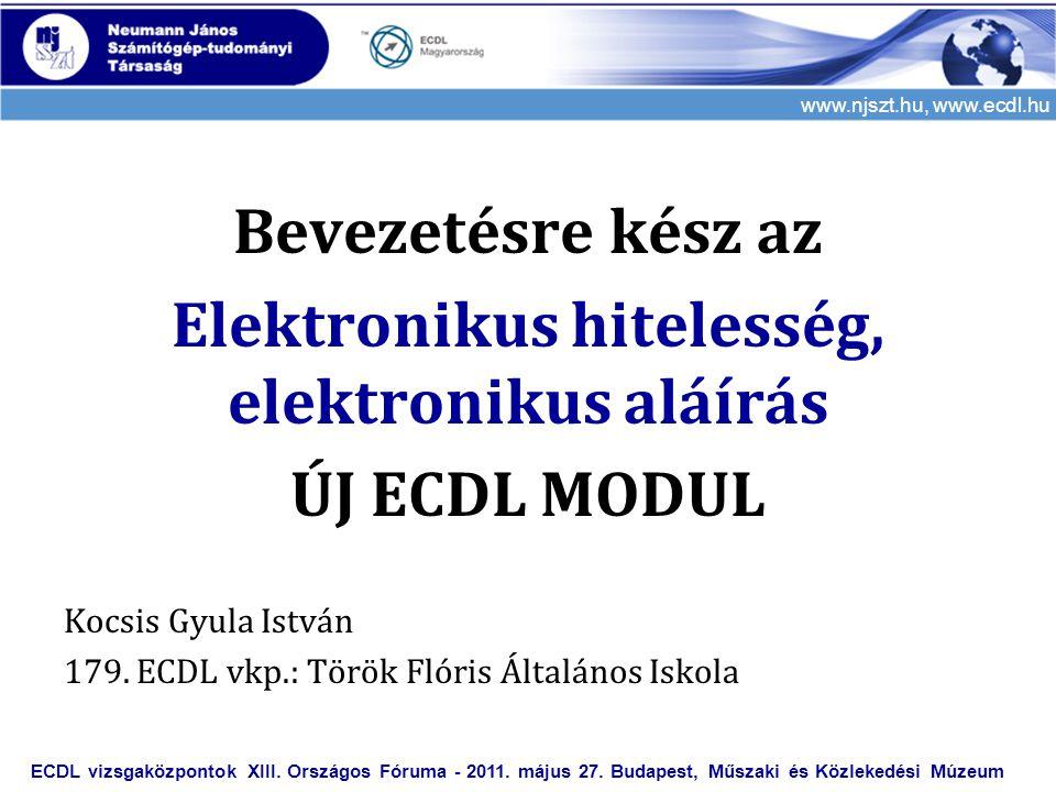 Elektronikus hitelesség, elektronikus aláírás