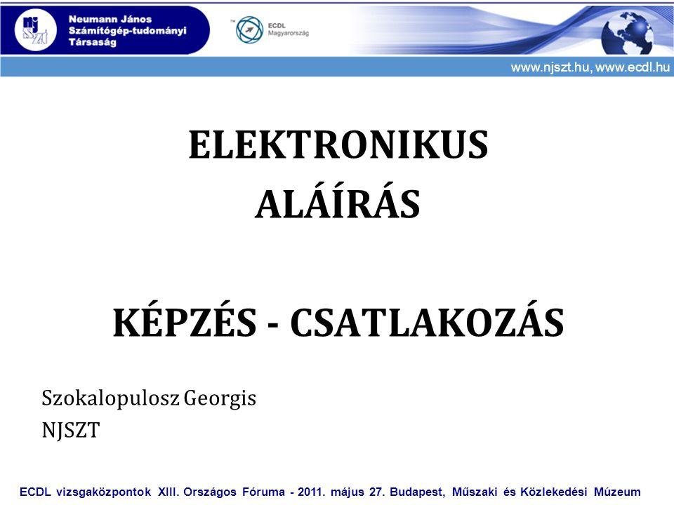 ELEKTRONIKUS ALÁÍRÁS KÉPZÉS - CSATLAKOZÁS