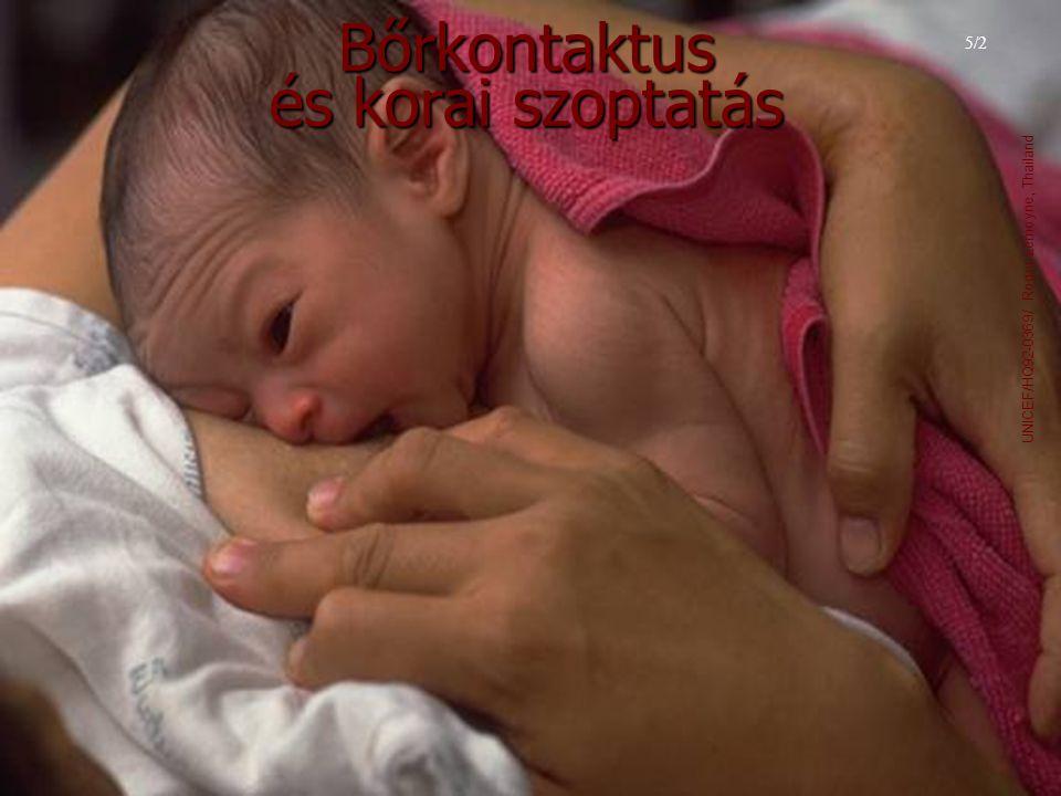 Bőrkontaktus és korai szoptatás