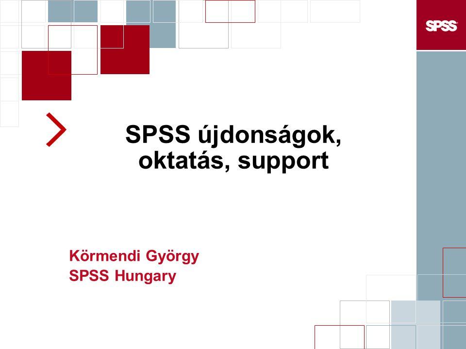 SPSS újdonságok, oktatás, support