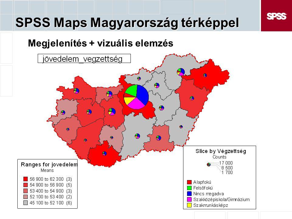 SPSS Maps Magyarország térképpel