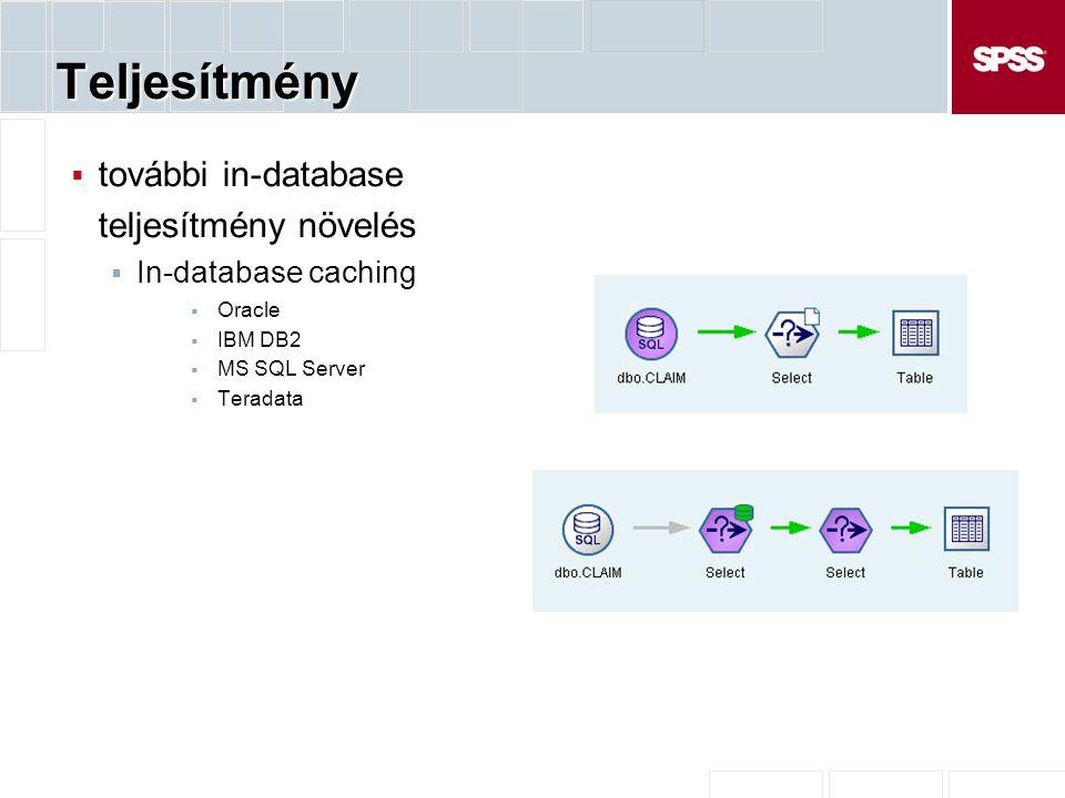 Teljesítmény további in-database teljesítmény növelés