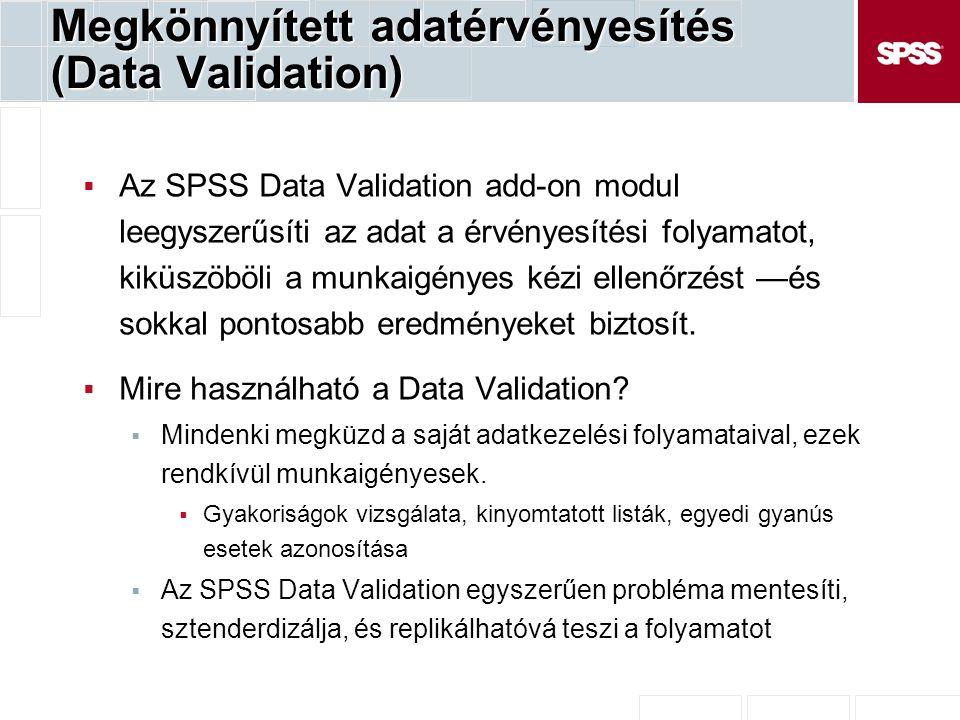 Megkönnyített adatérvényesítés (Data Validation)