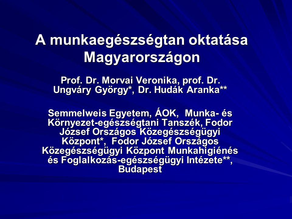 A munkaegészségtan oktatása Magyarországon