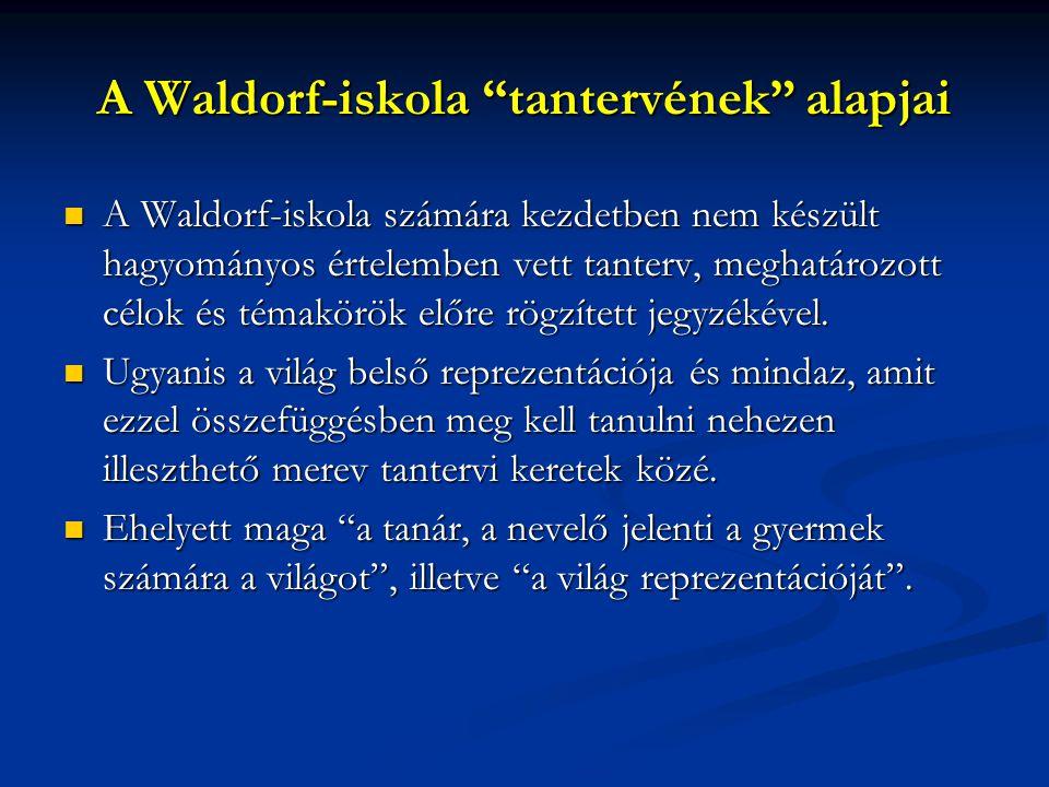 A Waldorf-iskola tantervének alapjai
