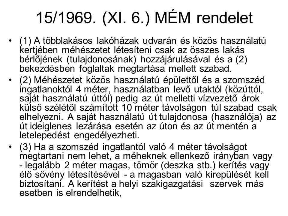 15/1969. (XI. 6.) MÉM rendelet