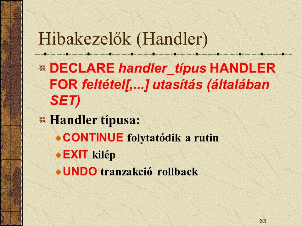 Hibakezelők (Handler)
