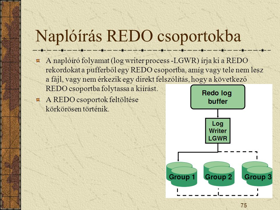 Naplóírás REDO csoportokba