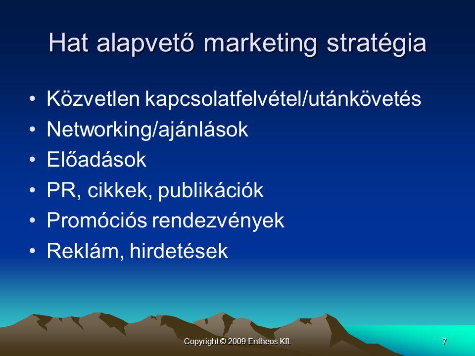 Hat alapvető marketing stratégia