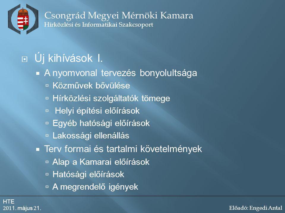 Új kihívások I. Csongrád Megyei Mérnöki Kamara
