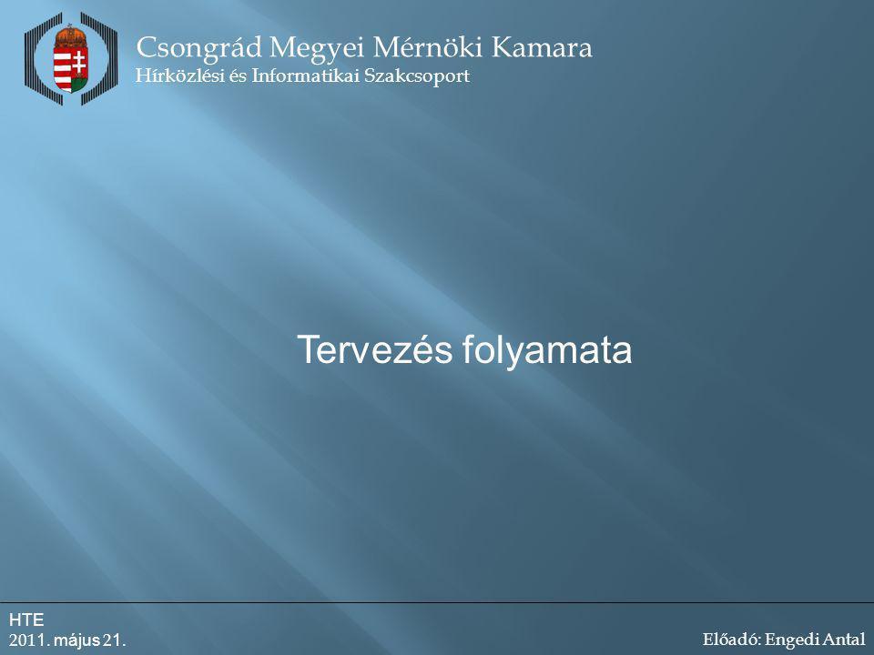 Tervezés folyamata Csongrád Megyei Mérnöki Kamara